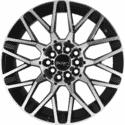 "15"" Incubus 418 Black Glossy & Polished Metal 10h"