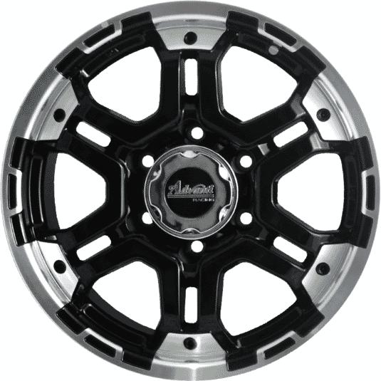 "16"" Onyx ML761 Black Glossy & Polished Metal"