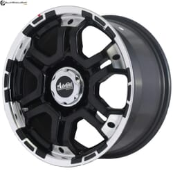 "16"" Onyx ML761 Black Glossy & Polished Metal"