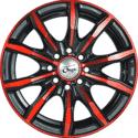 "15"" Onyx 1518 Black Glossy & Gloss Red 10h"
